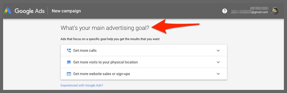 New campaign (Google Ads)