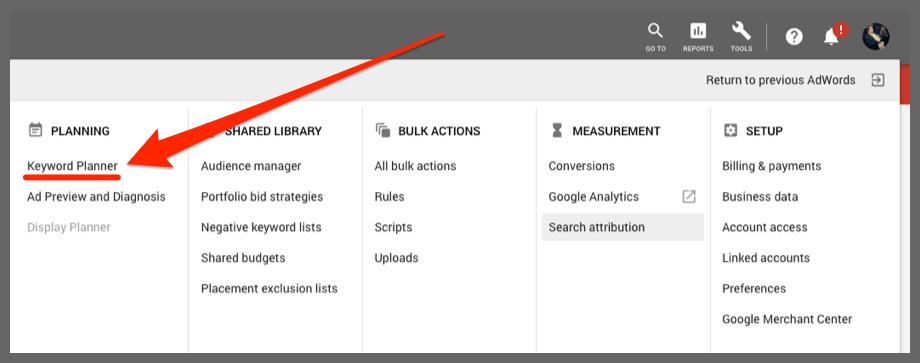 Keyword Planner (Google Ads)