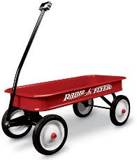 Radio Flyer wagon in traditional red