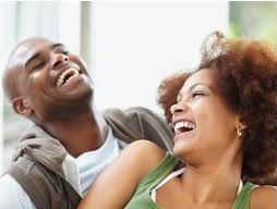 Fashion-savvy couple having a good laugh